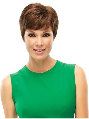 Wavy 6 Inches Trendy Brown Short Hair Wig