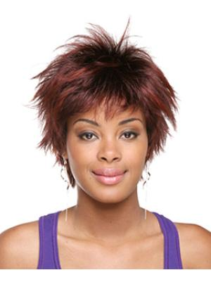 Straight Capless Red Layered Ideal Wigs