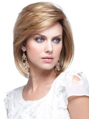 Blonde 10 Inches Chin Length Straight Capless Bob Haircuts
