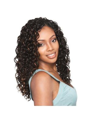 Curly Brown 15 Inches Without Bangs Ideal Wigs