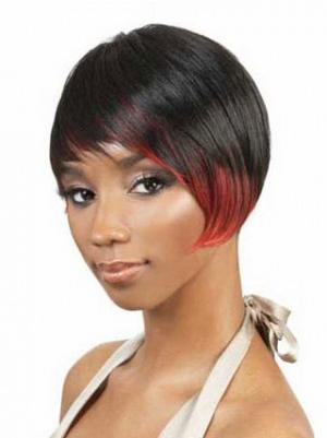 8 Inches Short Straight Synthetic Affordable Beauty Black Hair Styles
