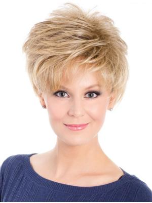 Wavy 6 Inches Incredible Blonde Short Style Wigs