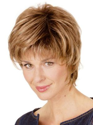 Soft Layered Blonde 8 Inches Wigs