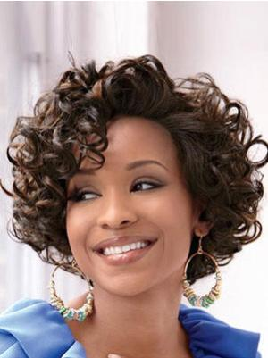 Comfortable 10 Inches Synthetic Curly Short Wigs For Women