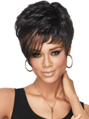 6 Inches Wavy Fashion Short Cropped Hair Wigs