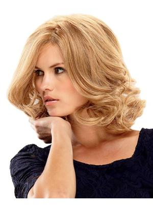 Ideal 14 Inches Curly Capless Blonde Wig Bob