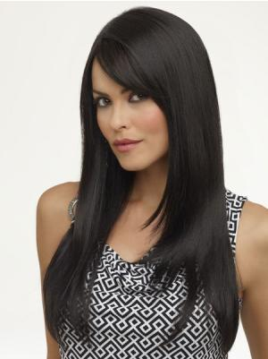 18 Inches Long Straight Synthetic Stylish Black Wig