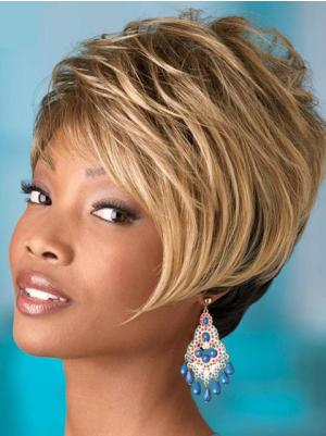 Capless 8 Inches Designed Wavy Short Wigs