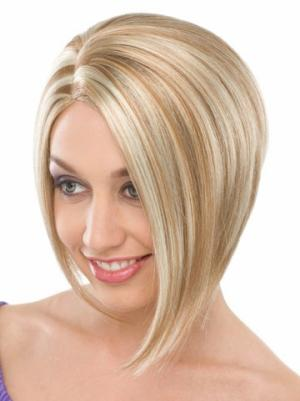 Blonde 10 Inches Chin Length Straight Capless Bob Style Wig