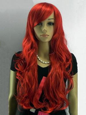 Wavy Capless Red With Bangs Good Wigs