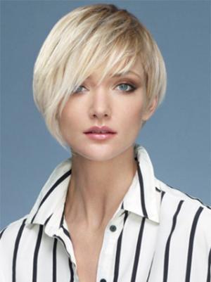 Straight 10 Inches Amazing Platinum Blonde Short Wig